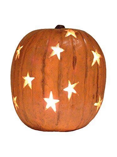 Lighted Pumpkin Decor With Stars