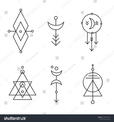 Hipster sacred geometric shapes vector set