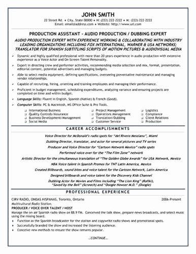 Production Assistant Job Description Resume Best Of Sample