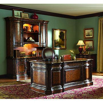 Beladora Traditional Executive Office Set //Set Includes: Executive Desk,  Credenza, Hutch And Lateral File #TraditionalOffice #DreamOffice |  Pinterest ...