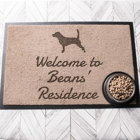 Personalised Indoor Doormat Dog Silhouette Gifts For