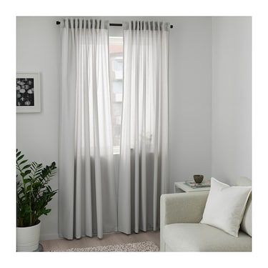 Annalouisa Curtains 1 Pair Light Grey 145x250 Cm Ikea Ireland Living Room Decor Curtains Curtains Curtains Living Room