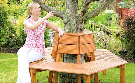 Baumbank selber bauen – Anleitung von HORNBACH | DIY meubles ...