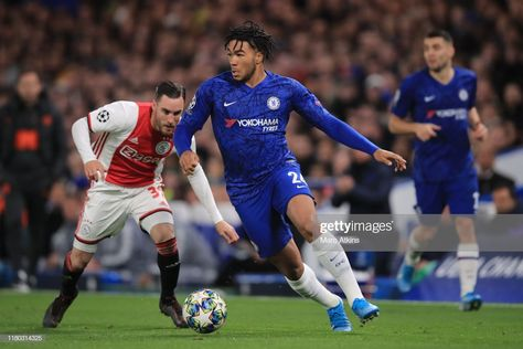 News Photo : Reece James of Chelsea in action with Nicolas...