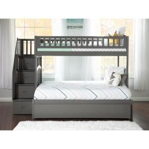 Atlantic Furniture Westbrook Grey Twin Over Full Staircase Bunk