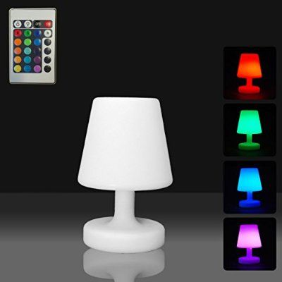 Mervy Petite Lampe Led Multicolore De Table 25cm Sans Fil Et Rechargeable Telecommande 16 Couleurs Avec Images Lampe Led Eclairage Led Lampes De Table