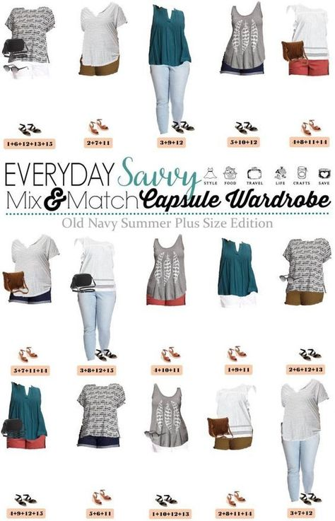 7dc49a17142 Check out this fun Old Navy Plus Size Capsule Wardrobe for summer. It  includes colored