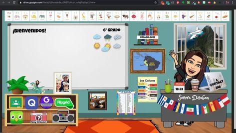 My Bitmoji Virtual Classroom Computer Lessons, Technology Lessons, Computer Lab, Teaching Technology, Online Classroom, Science Classroom, Kindergarten Classroom, Classroom Banner, Classroom Ideas