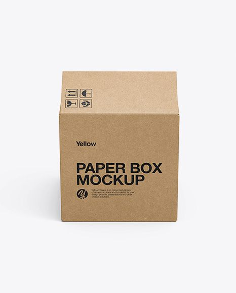 Download Opened Kraft Box Mockup Side View High Angle Shot In Box Mockups On Yellow Images Object Mockups Box Mockup Free Psd Mockups Templates Mockup Free Psd