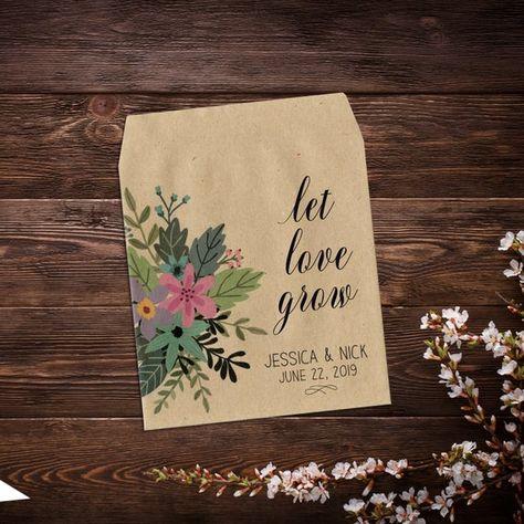 Seed Favor, Seed Packets, Custom Wedding Favor, # #seedfavor #seedpackets #customweddingfavor #weddingfavor #customseedpackets #personalizedfavor #seedpacketfavor #letlovegrowfavor #seedweddingfavor #rusticweddingfavor #bridalshowerfavor #seedenvelopes #wildflowerseeds