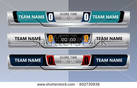 Scoreboard Broadcast Graphic And Lower Thirds Template For Sport