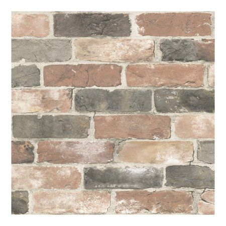 Nuwallpaper Newport Reclaimed Brick Peel Stick Wallpaper Walmart Com Rustic Wallpaper Peel And Stick Wallpaper Brick Wallpaper
