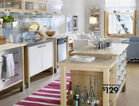 Ikea, Varde, Kitchen, Stand, Alone, Free, Standing, Cabinets, Island | Free  Standing Kitchen Cabinets, Standing Kitchen And Kitchens