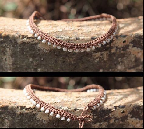 Hippie Style Boho Anklet - Bohemian Gypsy style These bohemian gypsy style, hippie boho macrame anklets are the perfect summer anklet, great to wear o.