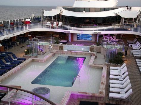 Sparkling pool on Oceania Riviera #Cruise | Oceania Riviera