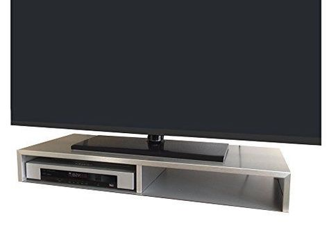 Tabletop TV Stand for Flat Screen Brushed Aluminum Rizervue | eBay