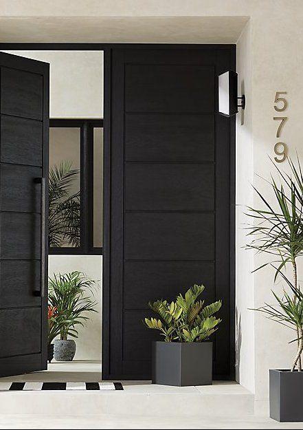 Chilewich Black And White Floor Mat Reviews Cb2 Black Exterior Doors Beautiful Front Doors Front Door Design