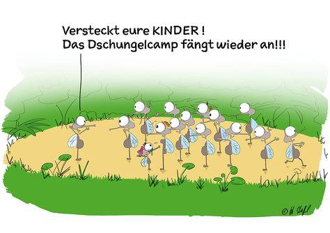 Dschungelcamp Humor Lachen Witz Comic Cartoon Hansi Stoffel
