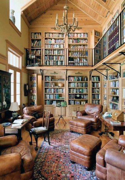 Traditional Two Story Home Library Room | kevin office | Pinterest | Library  room, Traditional and Room