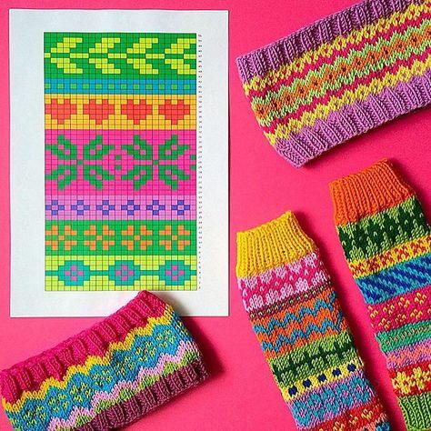 Орнамент для для шарфа и варежек спицами | bom pletla, kvačkala ...