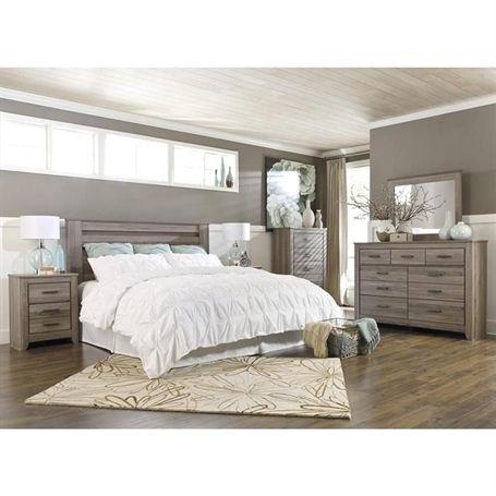 Zelen 5 Piece King Bedroom Set In Warm Gray Nebraska Furniture Mart Kingbedroomsets Kingsizebed Bedroom Sets Queen Bedroom Furniture Sets King Bedroom Sets