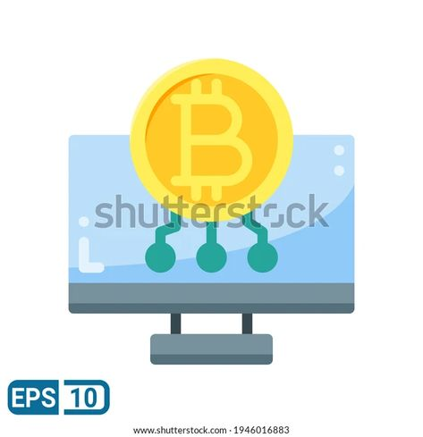 Bitcoin Icon Flat Style Isolated On Stock Vector (Royalty Free) 1946016883