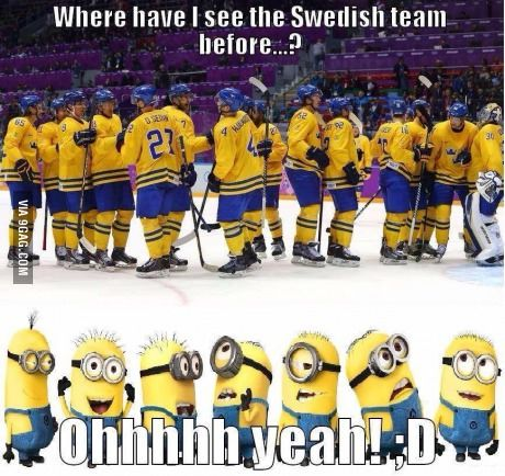 Canadian Hockey Humor via minion style :) Hockey Girls, Hockey Mom, Hockey Teams, Hockey Players, Hockey Stuff, Hockey Girlfriend, Kings Hockey, Rangers Hockey, Field Hockey