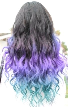 The 7 Coolest Ways To Dye Your Hair Dip Dye Hair Purple Ombre Hair Dipped Hair