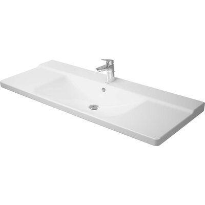 Duravit P3 Comforts Ceramic Rectangular Vessel Bathroom Sink With