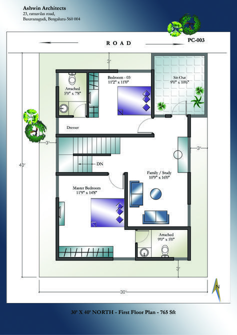30 X 40 North Facing House Plans First Floor North Facing House 20x30 House Plans Indian House Plans 2 bedroom house plans indian style north facing