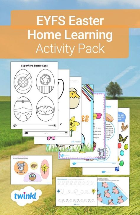 Use this fantastic pack to keep your children occupied for hours! The pack includes a variety of fun Easter-themed resources and craft activities for your children to complete independently. Visit the Twinkl website to download and find many more craft ideas to do at home.   #craftsforkids #easter #eastercraft #teaching #teacher #homeeducation #homeschool #homelearning #parents #parenting #twinkl #twinklresources #easteregg #papercraft #crafts