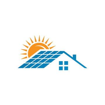 Solar Panels Logo House And Sun For Save Energy Green Power Solar Logo Energy Logo Home Logo