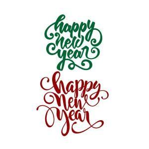 Happy New Year Svg Cuttable Design Motive Deko
