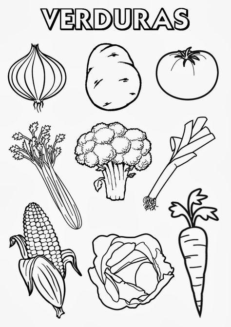 Frutas Y Verduras Para Colorear Buscar Con Google Proyecto