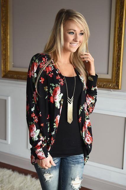 Kiku -- Women's Floral Jacket