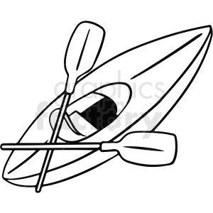 Black And White Cartoon Kayak Vector Clipart Black And White Cartoon Clip Art Vector Clipart