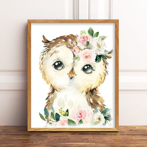Rachel on March 05 can find Owl nursery and more on our website.Rachel on March 05 2020 Owl Themed Nursery, Baby Owl Nursery, Woodland Nursery Prints, Woodland Animal Nursery, Girl Nursery Themes, Floral Nursery, Elephant Nursery, Nursery Room, Baby Owl Pictures