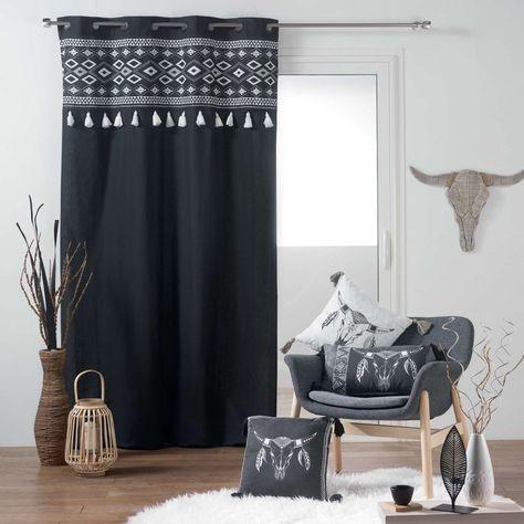 Rideau Linge De Maison En 2019 Rideaux Noirs Rideaux Et