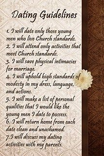 Rules of mormonism dating