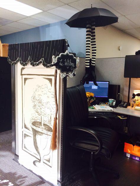 Halloween office cubicle Halloween Pinterest Halloween office - decorate cubicle for halloween