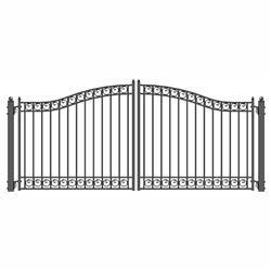 Steel Dual Swing Driveway Gate Dublin Style 14 X 6 Feet Driveway Fence Iron Gate Design Driveway Gate