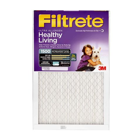 1500 Air-Filter Filtrete M3 Purple Furnace Virus Pet Dust 2,4,6,8 Ultra-Allergen