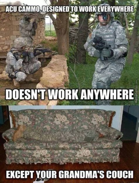 When camouflage doesn't work funny army memes, army jokes, funny jokes,