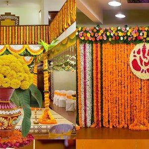 Flower Artificial garlands Indian Jasminum Door Set Wall HangingDoor Hanging Marigold Christmas Special Wedding Decoration Home Decor