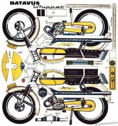 Two Cool 1960 S Paper Models By Dv Moto Website Link 1960 S Moped Paper Models By Dv Moto More Motorc Paper Models Paper Model Car Free Paper Models
