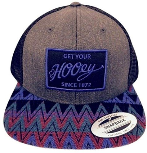 5213d007 Hooey Hat - 'Totem' Aztec Print Trucker Hat - Blue/Maroon/Black/Grey at  Amazon Men's Clothing store: