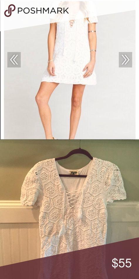 Show Me Your Mumu White Crochet Mini Dress Show Me Your Mumu White Crochet Mini Dress Bought From An Crochet Mini Dress White Crochet Mini Dress White Crochet