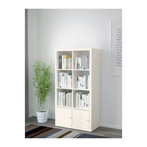 Kallax Shelf Unit With Doors Black Brown Living Space Pinterest