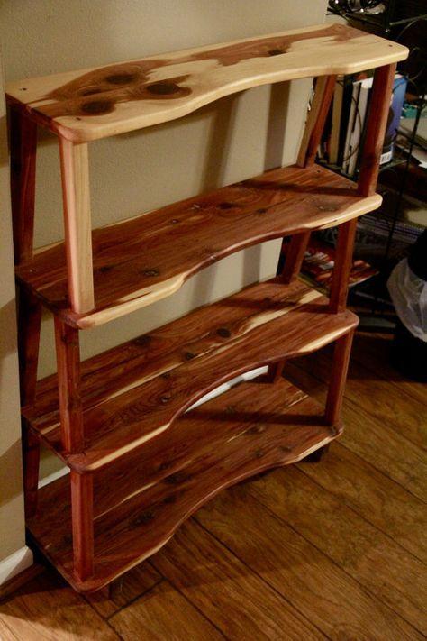 Bookshelf Cedar Bookshelf Wooden Bookshelf By Rustyswoodworking Handmade Wood Furniture Cedar Furniture Log Furniture Plans