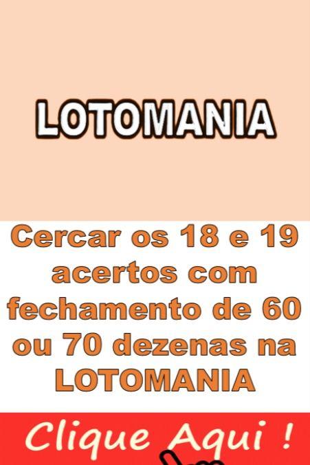 Aposte Com 60 E 70 Dezenas Na Lotomania Fechamento Com Filtros